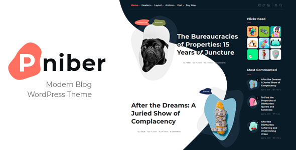 Pniber - Modern Blog WordPress Theme