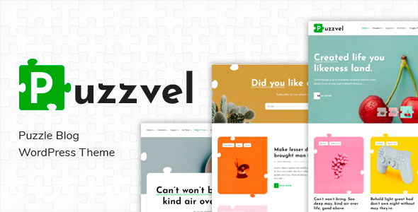 Puzzvel - Puzzle Blog WordPress Theme